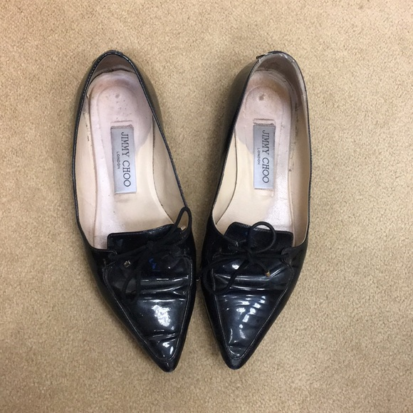 f801c2ca5f2 Jimmy Choo Shoes - Jimmy Choo Genna pointy flat patent leather blk 36